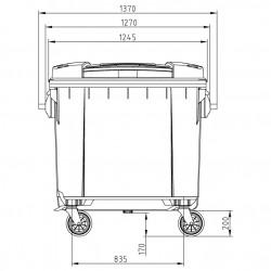 SULO 1100 L KONTÉNER (lapos tető)- ZÖLD