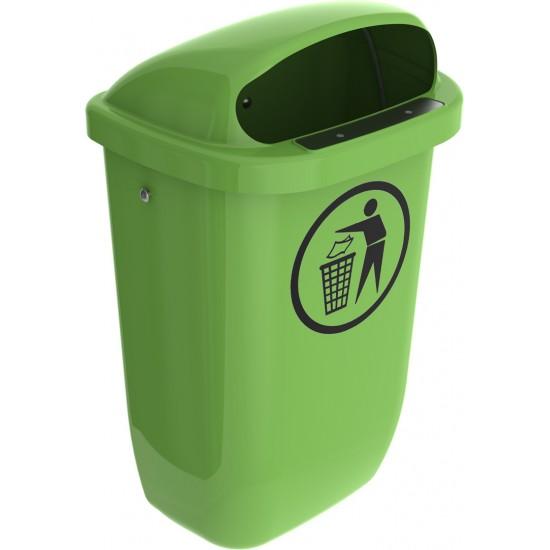 50 literes köztéri hulladékgyűjtő edény